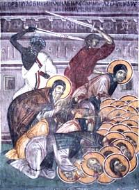 ღირსმოწამე მიქაელი - ზობიელი იღუმენი და მასთან 36 ღირსმოწამენი
